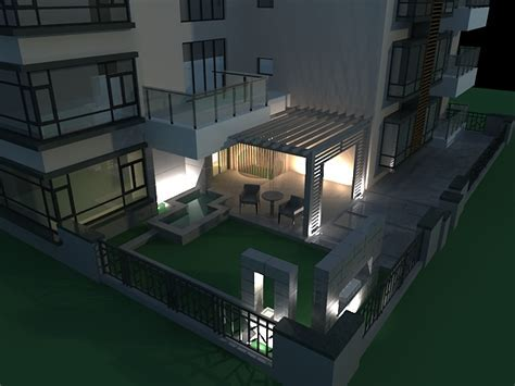 Exterior patio at night 3d model 3ds max files free