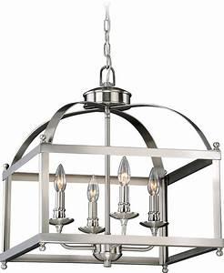 Vaxcel P0199 Juliet Satin Nickel Foyer Lighting Fixture