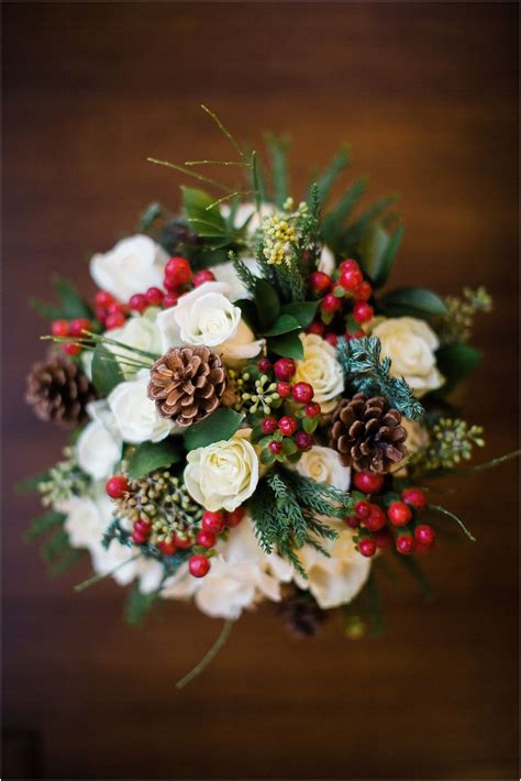A Perfect Bouquet For A Winter Wedding With White Roses
