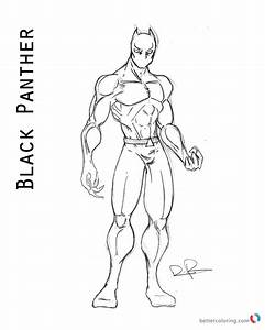 Superhero Black Panther Coloring Page Free Printable Coloring Pages