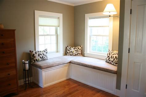 Bay Window Seat For Comfortable Seating Area At Home. Bathroom Cabinetry. Plastic Outdoor Rugs. 10 Drawer Dresser. Wood Ceiling. Marble Top Round Dining Table. Gray Porcelain Tile. Schoolhouse Pendant. Midcentury Chair