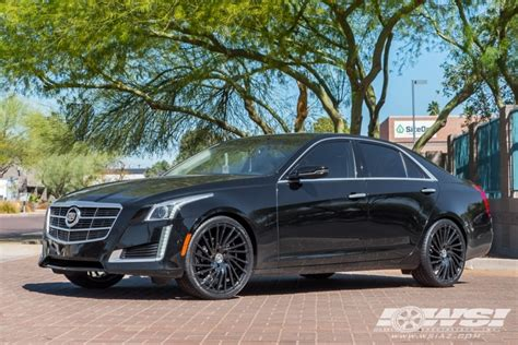 Black Rims For Cadillac Cts by 2014 Cadillac Cts With 20 Quot Lexani Wraith In Gloss Black