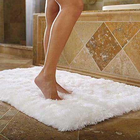 fluffy bathroom rugs diy cozy bath rug out of towels all