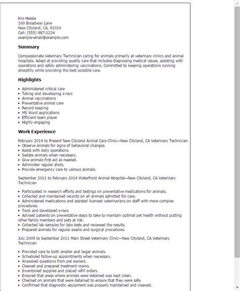 22336 veterinary assistant resume exles veterinary technician resume exles 28 images vet tech