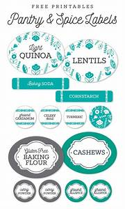 free pantry printable labels by liag including spice jar With kitchen colors with white cabinets with avery sticker template