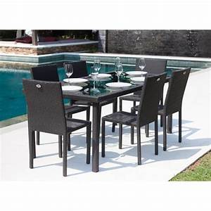Table De Jardin En Resine Tressée : ibiza ensemble table de jardin 6 places en r sine tress e et aluminium anthracite achat ~ Melissatoandfro.com Idées de Décoration