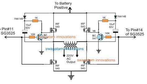 sg3525 bridge inverter circuit