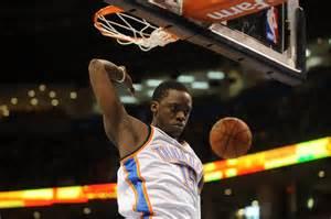 NBA Playoffs 2014: Reggie Jackson blocks James Johnson (GIF)
