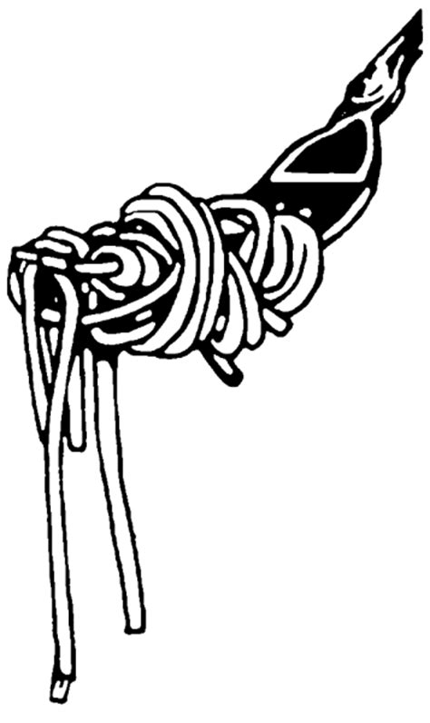 spaghetti clipart black and white fork with pasta illustration in black and white
