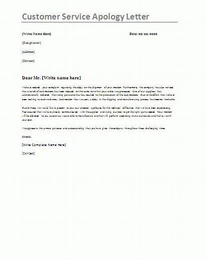 Apology Letter Template Customer Service Sample Templates