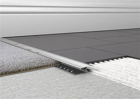 tile to carpet transition metal carpet to tile trim 1 knock tileasy