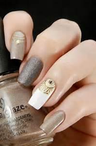 Gray nail art designs and design