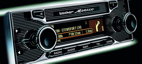retro autoradio fuer mercedes fans becker mexico