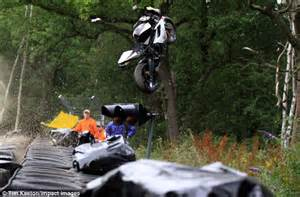 Racing Motorbike Disappears Into