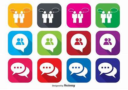 Chat Icon Icons Vector Symbol System Service