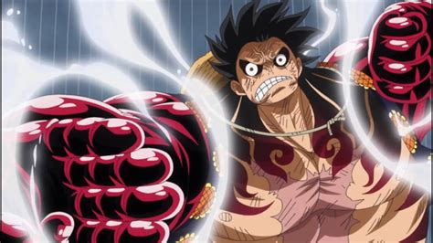 One piece doesn't do training monologues like naruto and 2nd class karate movies. GEAR 4 - LUFFY! ONE PIECE 726 - EPICO! KONG GUN - YouTube