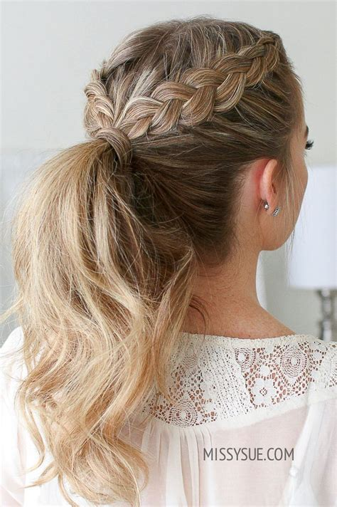 double dutch braid ponytail hair and makeup cheveux