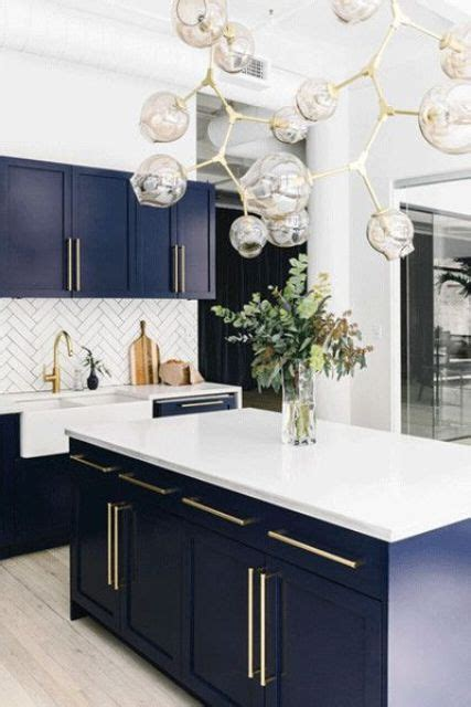 white and blue kitchen cabinets 30 gorgeous blue kitchen decor ideas digsdigs 1730