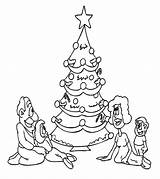 Coloring Tree Pages Printable Christmas Sheet Holiday Momjunction Drive2vote sketch template
