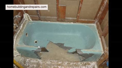 remove cast iron tub  big hammer bathroom