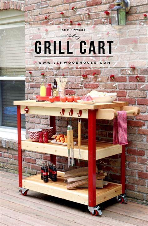 build  rolling grill cart grill cart diy