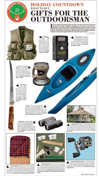 holiday countdown gift guide what to buy the outdoorsman