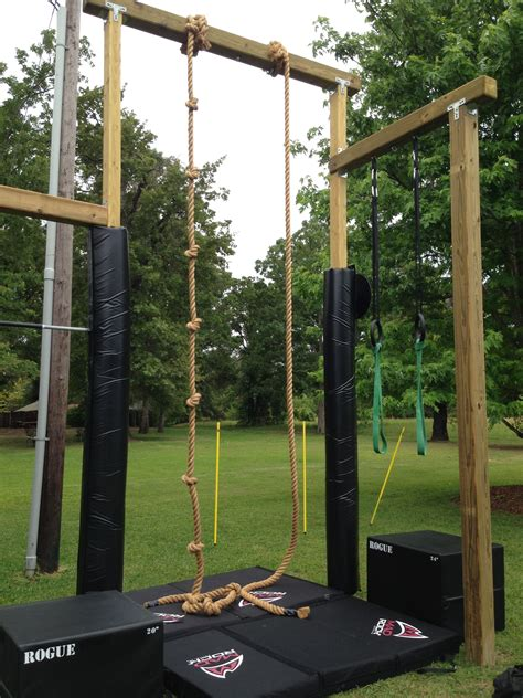 Rogue Rope Climb With Mad Rock Pads Pinned Crossed