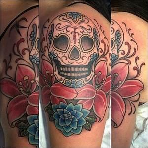 Tete De Mort Mexicaine Femme : tatouage bras recouvrement id es de tatouages et piercings ~ Melissatoandfro.com Idées de Décoration