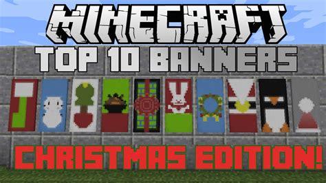 minecraft top  christmas banner designs