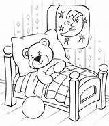 Coloring Teddy Bear Sleeping Bears Sleep Printable Drawing Care Pajama Technosamrat Sleepover Sheets Pajamas Sitting Colouring Google Getdrawings Getcolorings Results sketch template