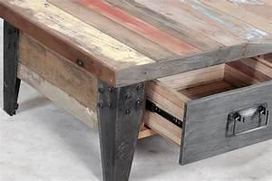 Table De Salon Originale : la table basse avec tiroir samoudra la maison coloniale ~ Preciouscoupons.com Idées de Décoration
