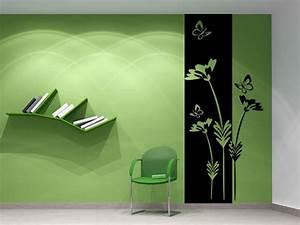 Pflanze Mit S : wandbanner pflanze mit schmetterlingen wandtattoo ~ Orissabook.com Haus und Dekorationen