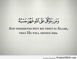 Quran 65-3 – ... Allah Tawakkul Quotes