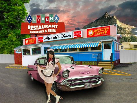50s Car Wallpaper 1080p by 50 S Style Diner The Fifties Wallpaper 40228475 Fanpop
