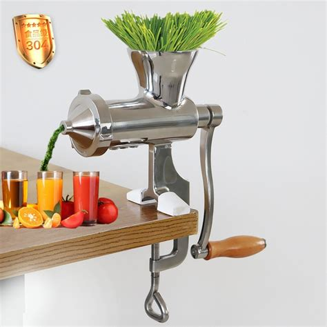 juicer stainless steel press machine manual hand wheatgrass juice cold healthy commercial extractor juicers grass quailty