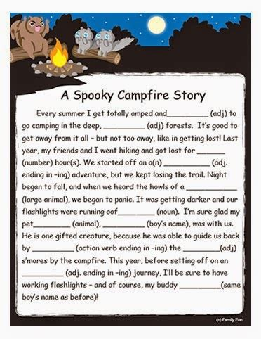 Halloween Mad Libs Online by Free Printable Stories For Adults Search Engine At
