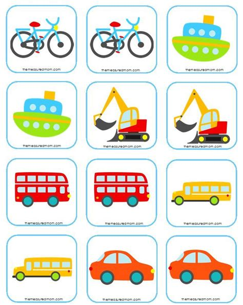 matching game free matching memory for transportation transportation and traffic