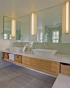 Waschbeckenunterschrank Kleines Bad : waschbeckenunterschrank aus bambus ~ Markanthonyermac.com Haus und Dekorationen