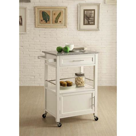 decorative kitchen islands linon home decor mitchell white kitchen cart with storage