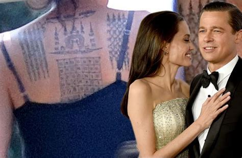 angelina jolie debuts radical full  tattoo brad