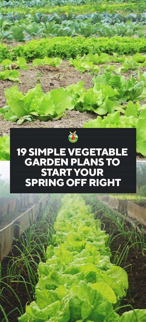 simple vegetable garden plans  start  spring