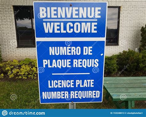 Blue Welcome License Plate Number Required In French And ...