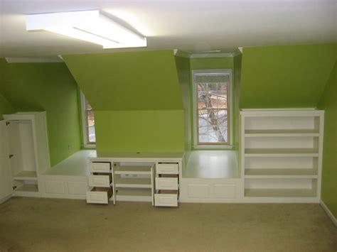 bedroom dormer built ins traditional bedroom atlanta
