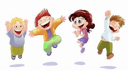 Cartoon Happy Children Clipart Background Vector Shutterstock