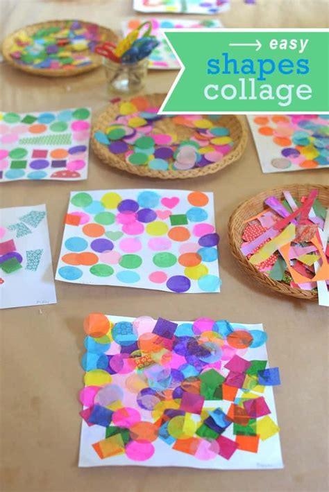 easy shapes collage art  math activity nurturestore