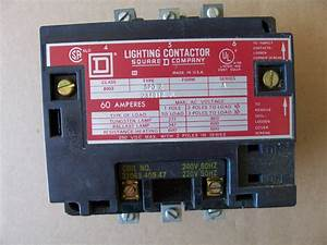Square D Lighting Contactor 60 Amp 8903 Spo2 Series A
