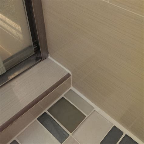 how to fill and seal gap between tile of shower floor