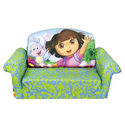 spin master marshmallow furniture flip open sofa dora