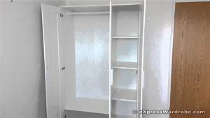 IKEA Brimnes 3 Door Wardrobe Design - YouTube