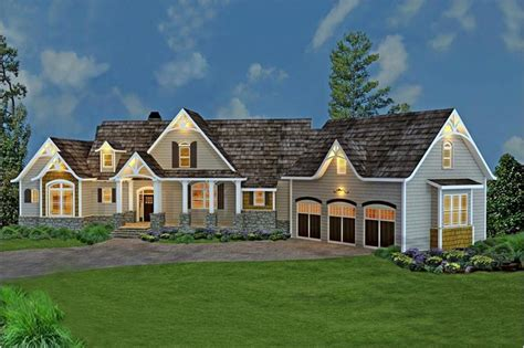 country craftsman home    bedrooms